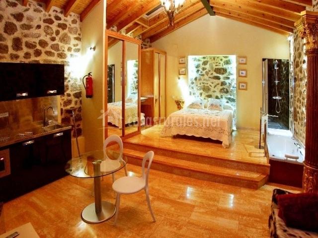 Cabana 2 dormitorio y sala de estar