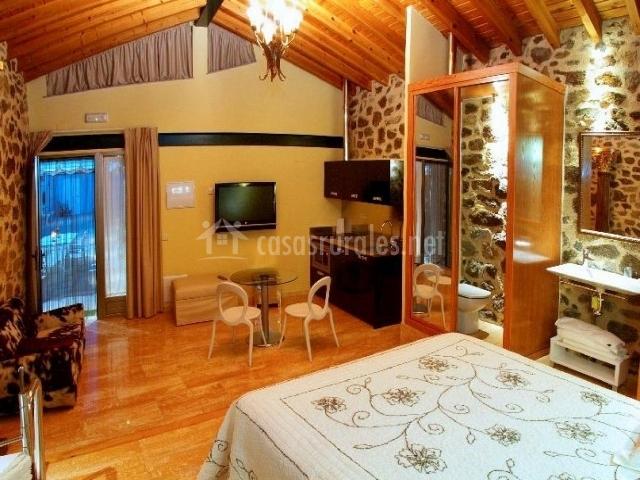 Cabana 4 con la sala de estar