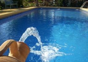 Vistas de la piscina comunitaria