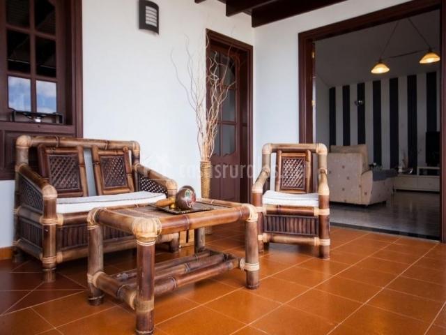 Mobiliario de la terraza