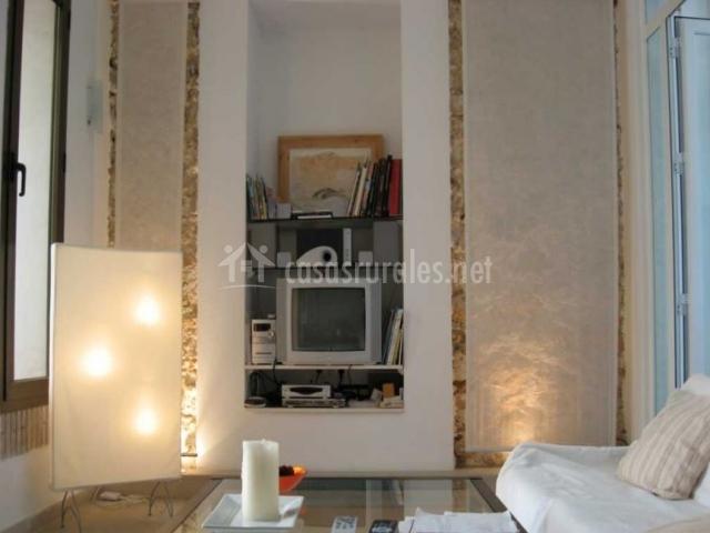 Televisión y DVD en el salón