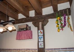 Detalles decorativos de la cocina