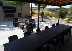 Mobiliario en la terraza