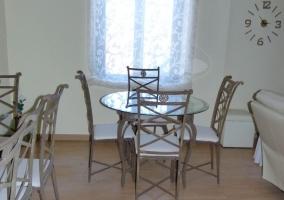 Mesas de cristal del comedor