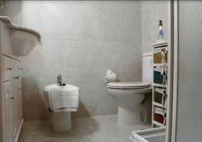 Aseo con ducha y lavabo