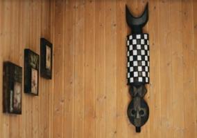 Detalles de la casa con cuadros