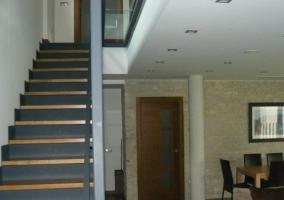 Escaleras hacia la planta superior