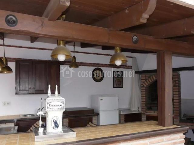 Vista de la cocina exterior