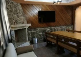 Sala de estar de la casa luminosa