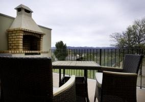 La Font Nova y su terraza con barbacoa