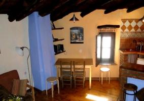 Salón con cocina apartamento