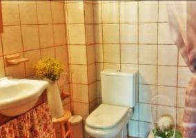 Aseo de la casa con detalles y lavabo