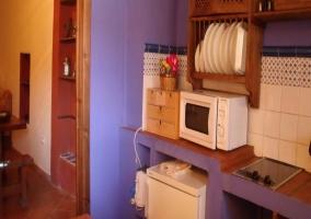 Cocina en tonos azules