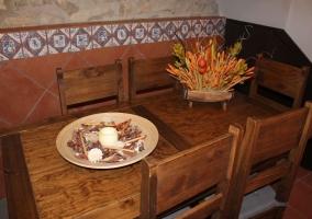 Mesa de madera pura