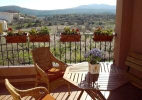 Balcón con hermosas vistas del entorno de Xert