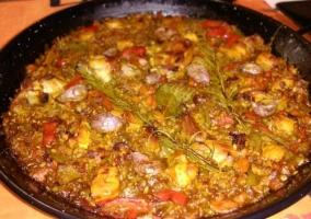 Entorno gastronomía arroz al horno