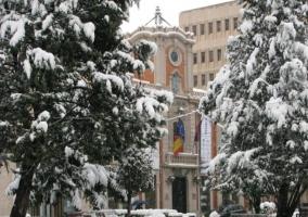 Ayuntamiento de Albacete nevado