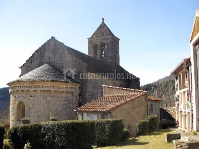 Zona de la iglesia de Rocabruna