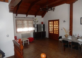 Interior salón-comedor