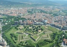 Vista superior de Pamplona