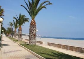 Zona del paseo junto a la playa