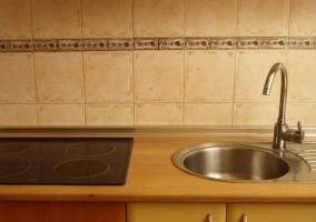 Cocina de la casa con su vitro