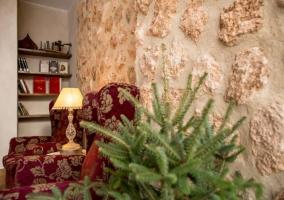 Salas del alojamiento con paredes