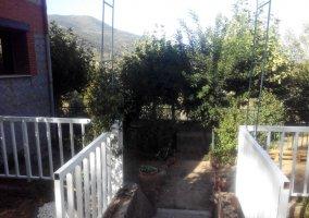 Vistas de la bajada a los jardines