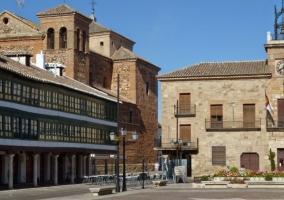 Zona de la plaza con el Ayuntamiento