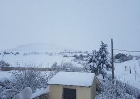 Nieve en la casa