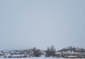 Nieve en el pueblo