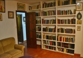 Salita con libros y sillones