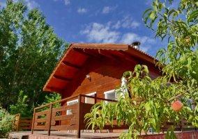 Vistas de la casita de madera