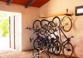 Vistas de la zona con bicicletas