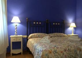 Dormitorio doble en azul