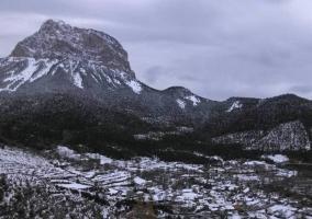 Zona del entorno nevado