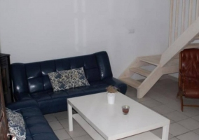 Acceso a la casa con muebles