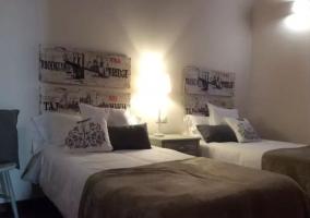 Dormitorio doble con cabecero