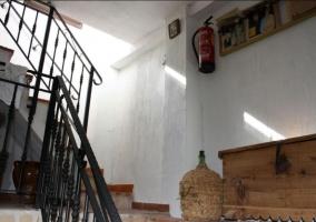 Escaleras de la casa con detalles