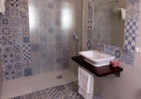 Suite y el aseo con azulejos