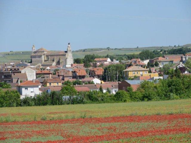 Zona del pueblo y campos