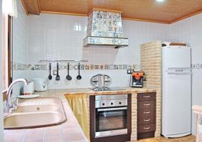 Cocina de la casa en L