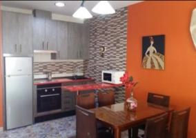 Cocina de la casa con pared