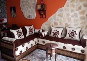 Sala de estar con lo sillones
