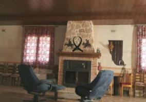 Sala social con sillones