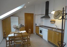 Sala de estar desde la cocina