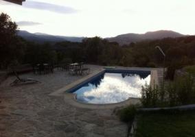 Vistas de la piscina en las zonas exteriores