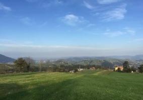 Zonas verdes y el pueblo