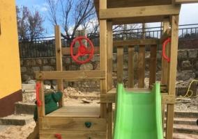 Vistas del parque infantil