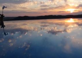 Vistas de la piscina infinita